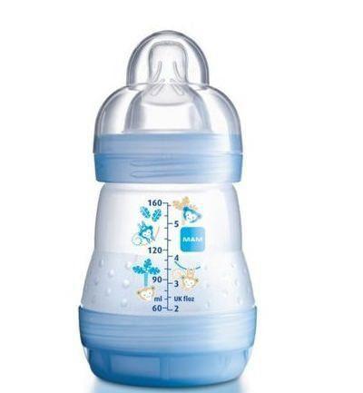 Mamadeira MAM First Bottle Azul 160 Ml
