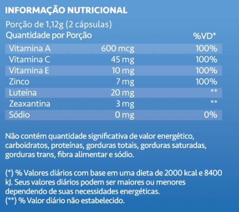Polivitamínico Para a Visão com Luteína e Zeaxantina Luteimax Maxinutri 60 Cáps