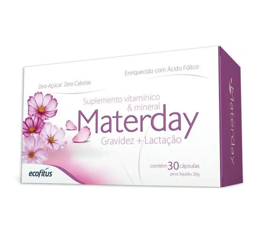 Polivitamínico Para Gestantes e Lactantes Materday com 30 Cápsulas