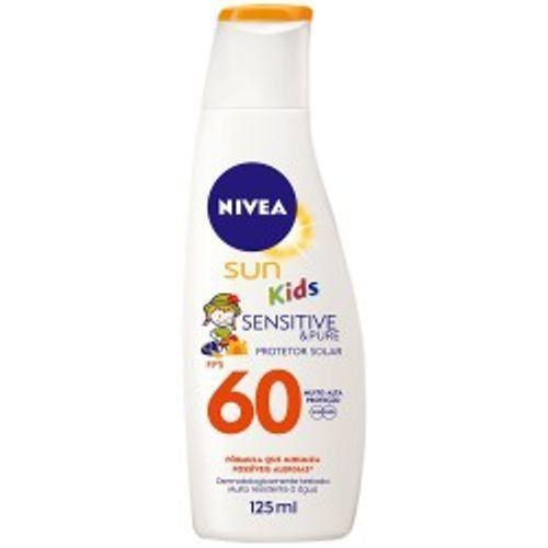 Protetor Nivea Sun Kids Sensitive & Pure Fps 60  125ml