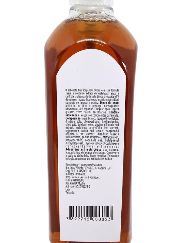 Sabonete Líquido Para Pele Oleosa Fine Soap 300ml