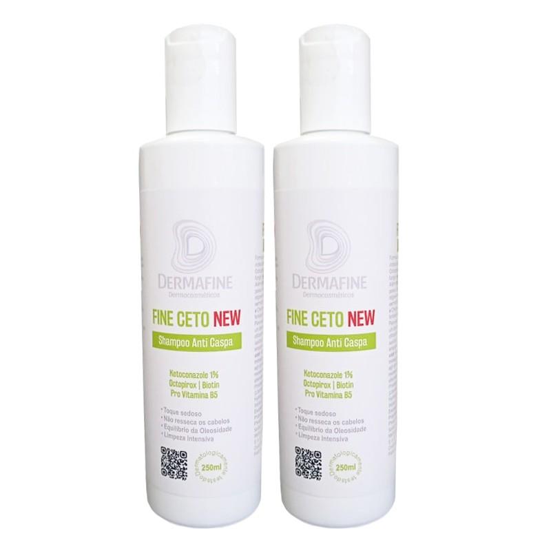 Shampoo Anti-Caspa Fine Ceto DermaFine 250mL - Kit com 2 Unidades