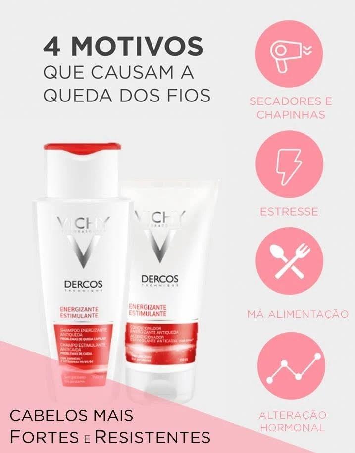 Shampoo Antiqueda Vichy Dercos Energizante com Aminexil - 200mL