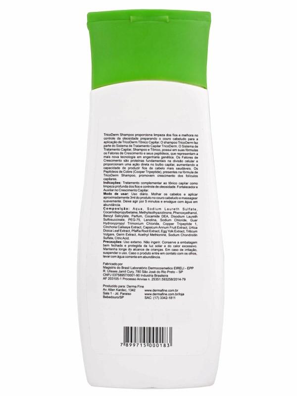 Shampoo Para Queda de Cabelo Tricoderm DermaFine 200mL - Kit com 2 Unidades
