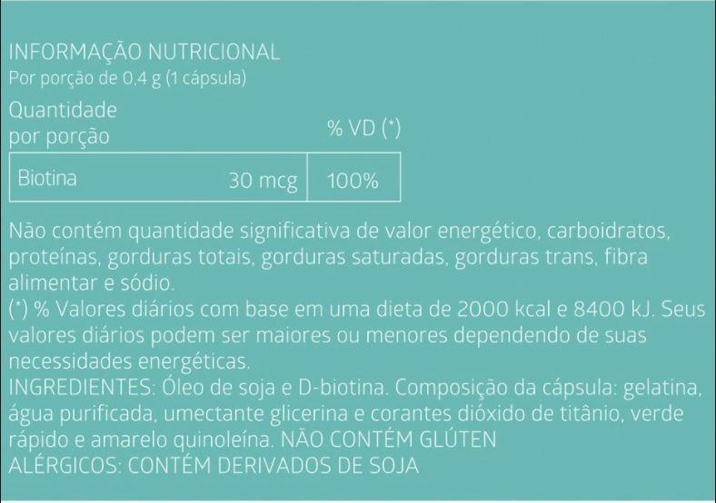 Suplemento Alimentar de Biotina Litee com 60 cápsulas