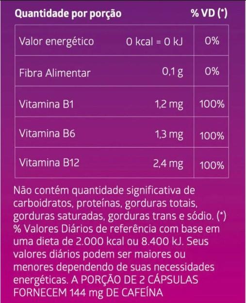 Suplemento Alimentar de Cafeína Litee Fit Mulher 60 cápsulas