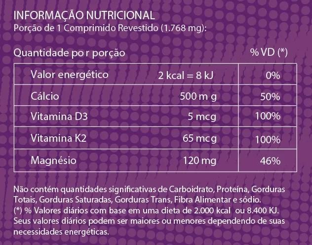 Suplemento Alimentar de Cálcio MDK Litee com 30 Comprimidos