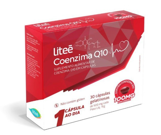 Suplemento Alimentar de Coenzima Q10 Liteé - 30 Cápsulas