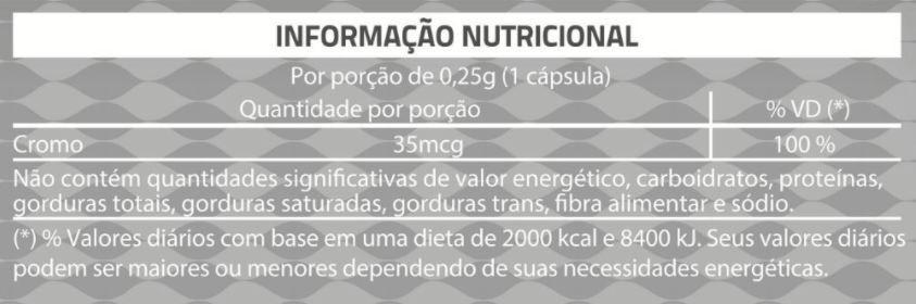 Suplemento Alimentar de Picolinato de Cromo Litee com 60 cáps