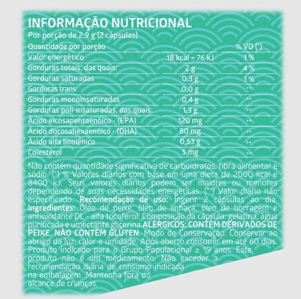 Suplemento Alimentar Litee Triplo Ômega DHA 3-6-9 c/60 cápsulas