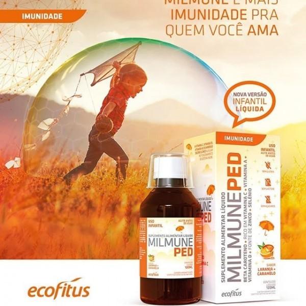 Suplemento Alimentar Milmune Ped Solução de 120ml Sabor Laranja Caramelo