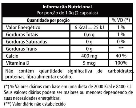 Suplemento de Cálcio e Vitamina D VitaSanus Cálcio D3 c/ 60 cápsulas