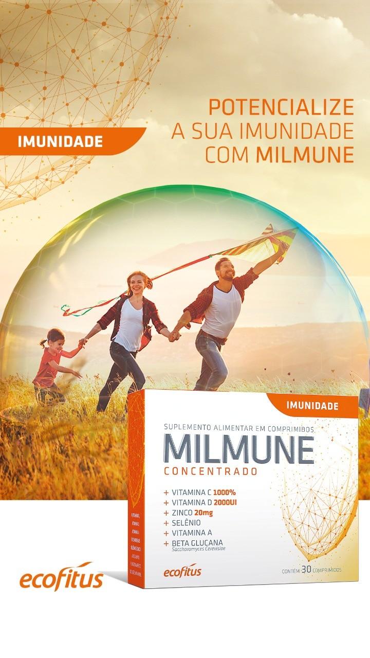 Suplemento Para Aumentar a Imunidade Milmune Concentrado 30 Cápsulas