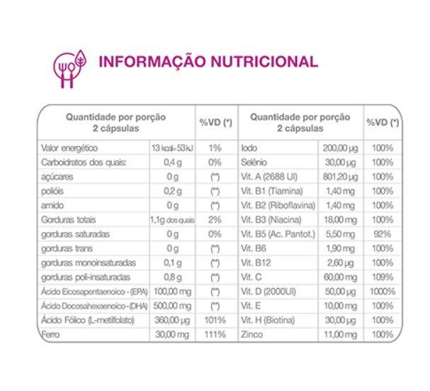 Suplemento Para Gestantes Regenesis Premium - 60 Cápsulas Gelatinosas
