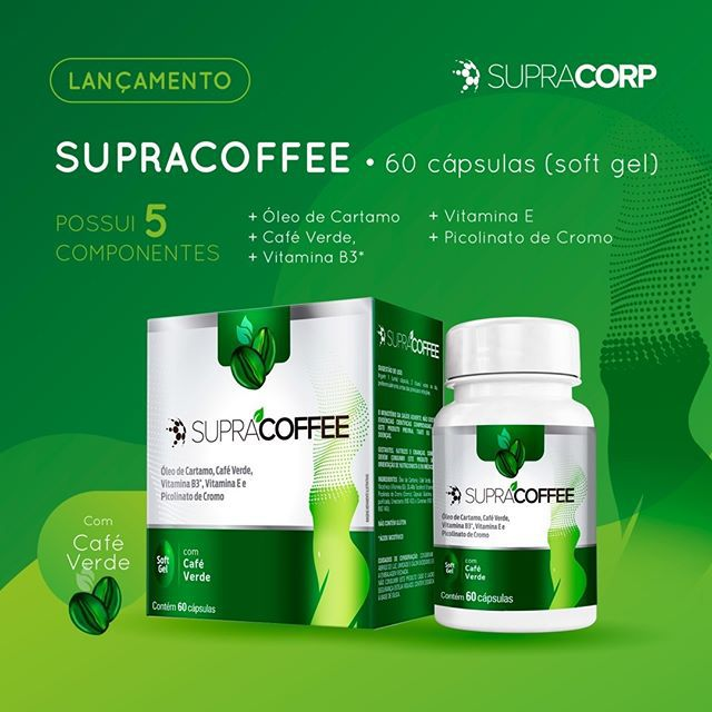Supracoffee Cafe Verde 60 Cápsulas Emagrecedor Natural