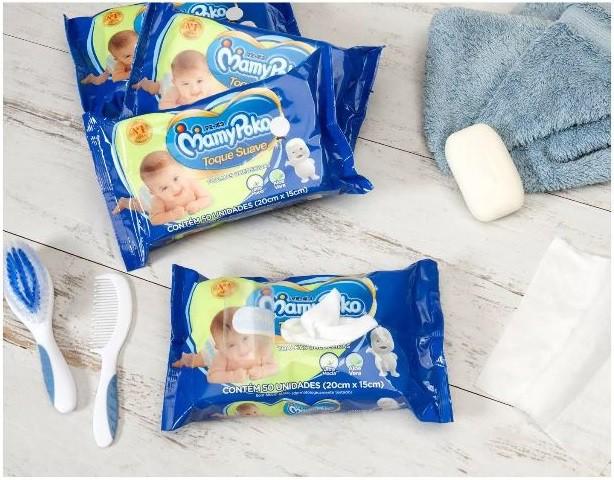 Toalhas Umedecidas Mamypoko Toque Suave com 200 toalhas