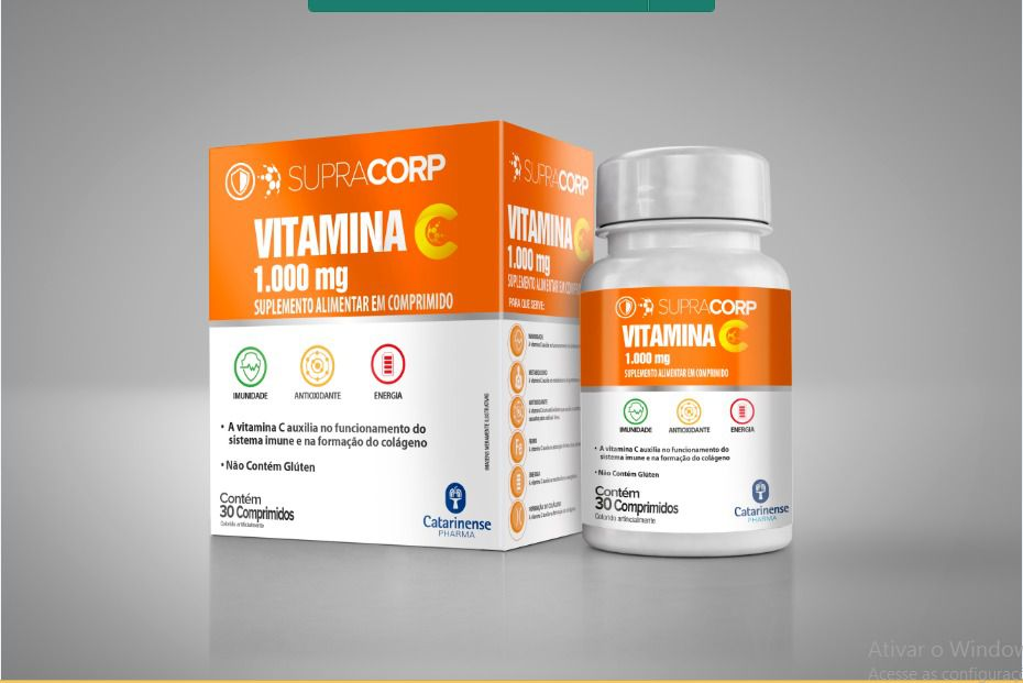 Vitamina C 1000 mg com 30 comprimidos