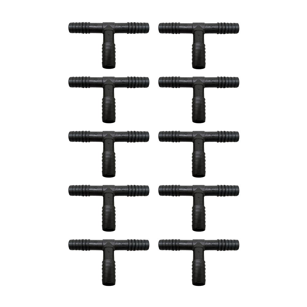 10 Unidades Tê Triplo Para Mangueira 1/2 Para Irrigação