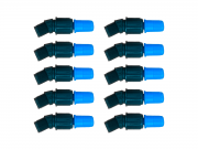 Kit 10 Unidades Bico Cônico Regulável Azul