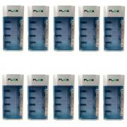Kit 10 Unidades Carregador Universal De Pilhas aa/aaa/c/d/Bat 9v