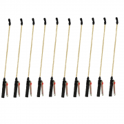 Kit 10 Unidades Lança de Metal Completa