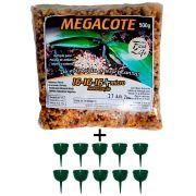Kit 1 Adubo Megacote 16-16-16 500g + 10 Unidades Porta Adubo