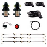 Kit Barra Pulverizadora Elétrica 3 Mini Barras 12 Bicos