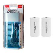 Kit Carregador Universal + 2 Pilhas Tipo D Rontek
