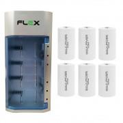 Kit Carregador Universal + 6 Pilhas Tipo D Rontek