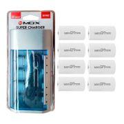 Kit Carregador Universal + 8 Pilhas Tipo D Rontek