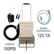 Lavadora a Bateria 12 Litros 100 PSI Com Carrinho