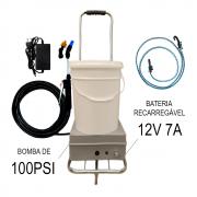 Lavadora a Bateria 18 Litros 100 PSI Com Carrinho