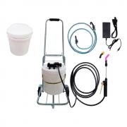 Lavadora Elétrica 12L 100PSI Carrinho + Balde de Plástico com Tampa 12 Litros