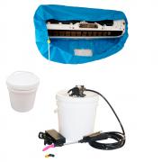 Lavadora Elétrica 12L 80PSI + Bolsa Coletora até 18000 + Balde de Plástico com Tampa 12 Litros