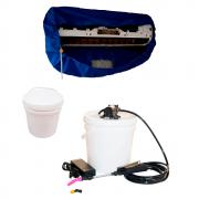 Lavadora Elétrica 12L 80PSI + Bolsa Coletora até 36000 + Balde de Plástico Com Tampa 12 Litros