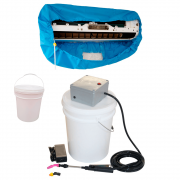 Lavadora Elétrica 18L 80 PSI Caixa Proteção + Bolsa Coletora Até 18000 BTUS + Balde de Plástico 18L