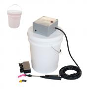 Lavadora Elétrica 18L 80PSI + Balde de Plástico com Tampa 18 Litros