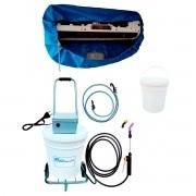 Lavadora Elétrica 18L 80PSI Carrinho + Bolsa Coletora até 12000 + Balde de Plástico com Tampa 18 Litros