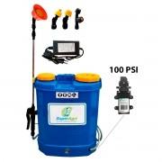 Pulverizador Costal Elétrico 16 Litros 100PSI SuperAgri SAPCE16L100P