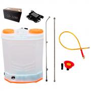 Pulverizador Costal Elétrico 18 a 20 Litros 100 PSI Bateria 12V 12A C/ Mangueira de Alta Pressão e Bico Chuveiro
