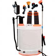 Pulverizador Costal Elétrico 20 Litros Bateria Recarregável 2 em 1 80 PSI