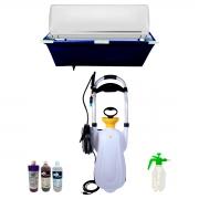 Super Lavadora Elétrica Carrinho 16 Litros SuperAgri SLCR16L100P + Bolsa 24K + Pulv. 1,5 Litros + Produtos De Limpeza 1L