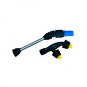 Tubo da Lança 15 cm + Bico Cônico Regulável Azul + Bico Leque Duplo