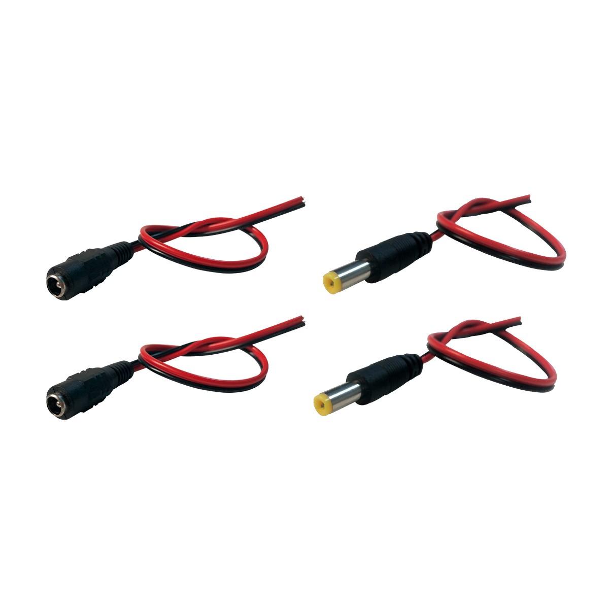 2 Unidades Cabo com Conector Plug De Energia P4 Macho + 2 Unidades Cabo com Conector Plug  P4 Fêmea