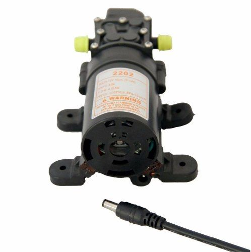 Kit 1 Motor Bomba Diafragma 100 Psi + 1 Fonte De Alimentação Bivolt