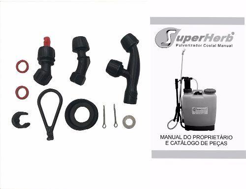Kit 2 Pulverizador Costal Manual 20l, Lança E Bico De Metal