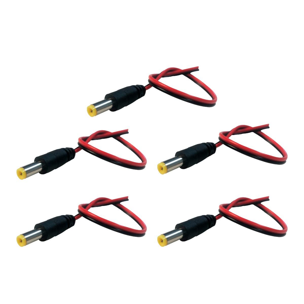 5 Unidades Cabo de Energia com Conector P4 Macho