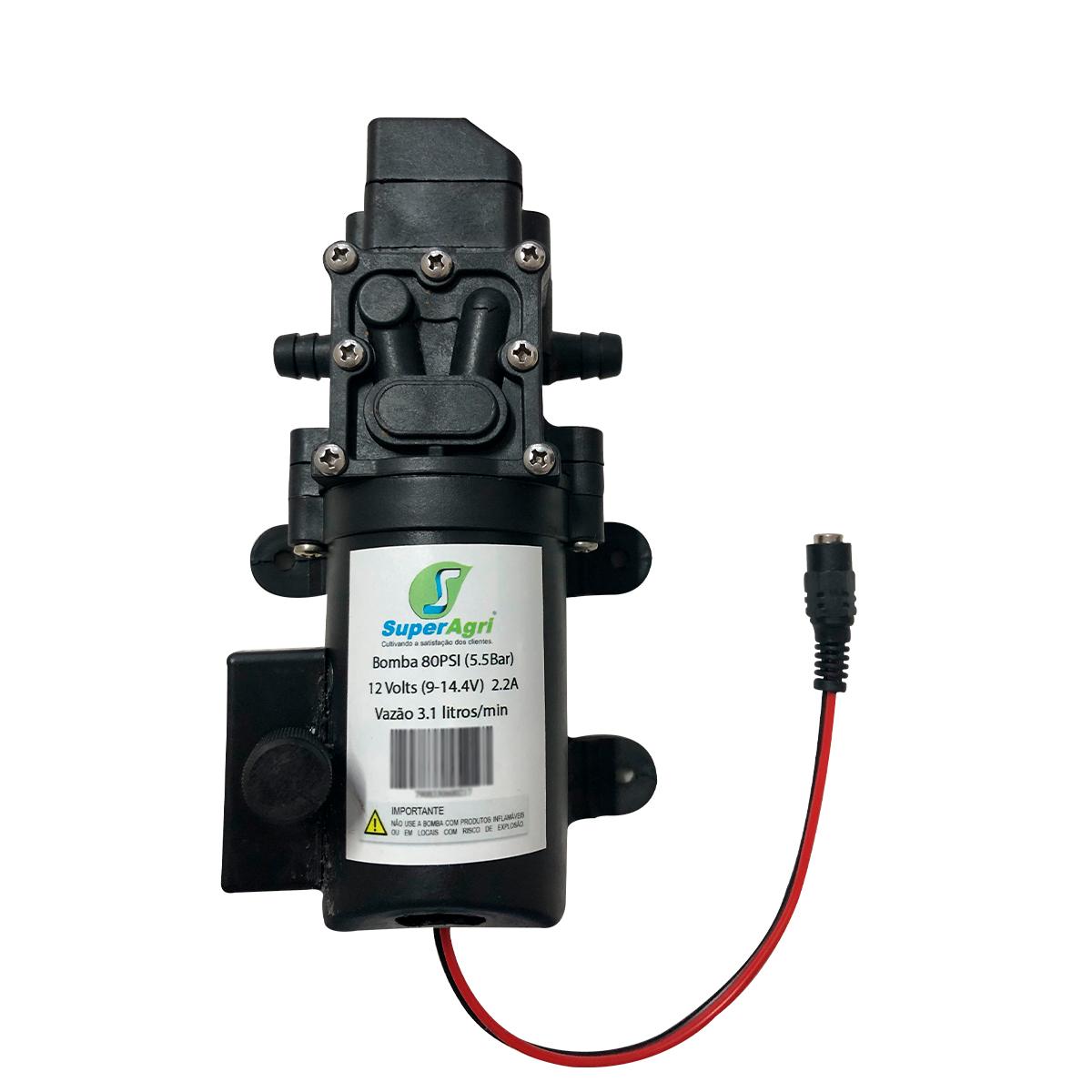 Bomba 80PSI + Fonte + Controle Pressão + Plug Energia