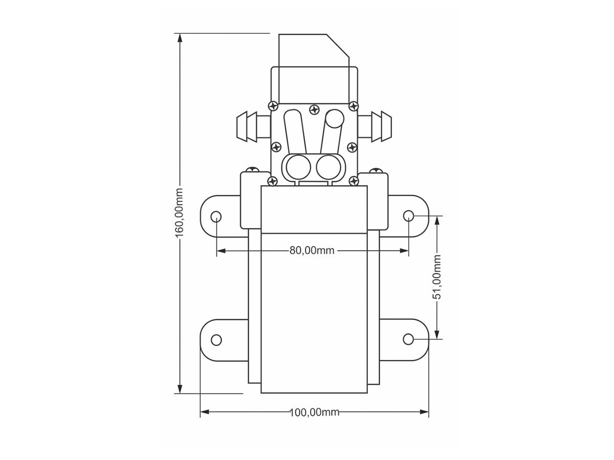 Motor Bomba Diafragma 12V 100 PSI SuperAgri