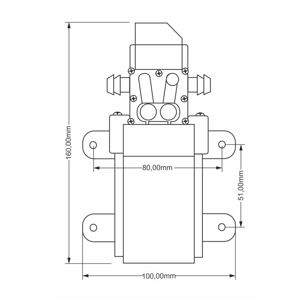 Bomba Diafragma 80 PSI 12V